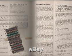 Compléter La Chaîne Et Le Magazine Trame Couture Avec Des Échantillons Originaux Hobbyist 1er 1957