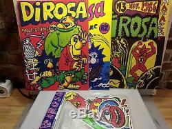 DI Rosa Magazine # 1-2-3 Et Un Ensemble D'autocollants