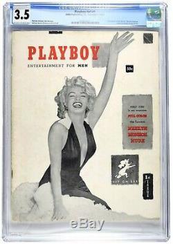 Décembre 1953 D'origine Playboy Magazine Cgc 3.5 Gr Marilyn Monroe 1er Numéro V # 1