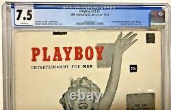 Décembre 1953 Playboy Marilyn Monroe #v1 #1 Hmh Magazine Cgc Universal 7,5