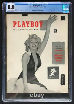 Décembre 1953 Playboy Marilyn Monroe #v1 #1 Premier Numéro Hmh Magazine Cgc 8.0