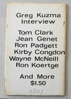 Dennis Cooper Ron Padgett Little Caesar # 2 1977 Magazine De Poésie Rare