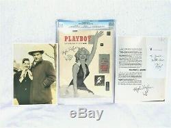 Deux Fois Seulement Hefner Signé Et Cartooned 1953 # 1 Playboy Dans World Cgc Page 3 # 1