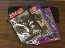 Dice Motorcycle Magazine Lot Numéro 1 # 2 # 3 2004 Chopper Bobber Mag