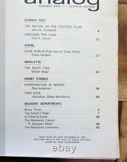 Dune Analog Science Fiction Pulp Lot Complete Set 8 Herbert 1963 1964 1965