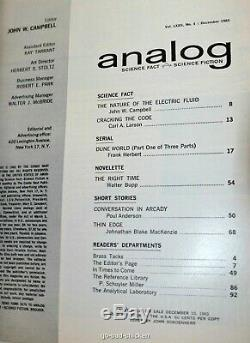 Dune Frank Herbert 1er Printings 1er Dune Histoires Jamais Imprimé Analogique 1963 1964
