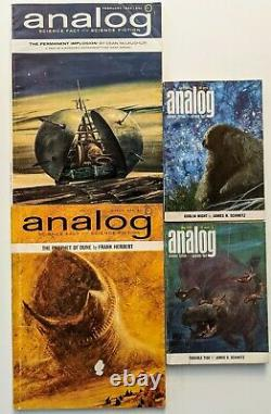 Dune Lot Sciences Analogue Pulp Fiction Herbert 1963 1964 1965 Good + / Vg Set