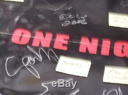 Ecw One Night Stand 61205 Affiche Signée Par 19 Withcoa Taz Balles Big Show