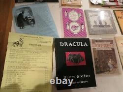 Edward Gorey Lot De Collection De Plus De 20 Éphémères Rares, Magazines Et Livres! Belle