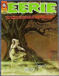 Eerie #25-signé Jim Steranko + Mike Royer-tallarico-warren Magazine-1969-horror
