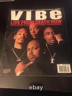 En Direct De Death Row Vibe Mag Février 1996 Rare Tupac, Snoop, Dr Dre, Knight