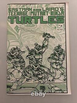 Enseignement Mutant Ninja Turtles #4 Première (1ère Imprimer) 1985 Mirage Magazine