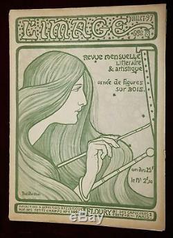 Exrare Orig '1897 Lithographie Paul Berthon L'image Art Nouveau Magazine Beauté
