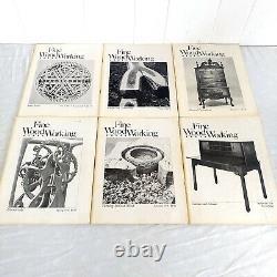 Fine Woodworking Magazines Publie 1-49 Complete In Order Vintage 1975-1984 Index