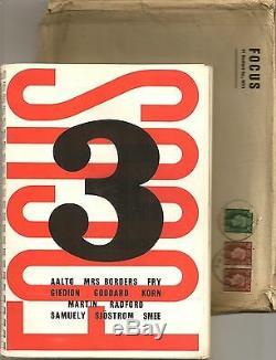 Focus 3, Rare 1939 Magazine D'architecture / Design Ben Nicholson Aalto Fry
