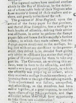 Gentleman Magazine 1765 Stamp Act Novembre No Taxation Without Representation