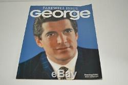 George Magazine 1995 Issue Inaugurale Et John Kennedy Farewell Edition -99 Ensemble De 2