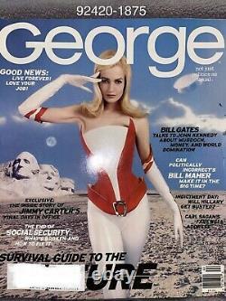 George Magazine Février 1997 Jfk Jr Karen Mulder Survival Guide Future Gates