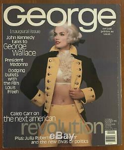 George Magazine Premier Numéro # 1 Cindy Crawford Cvr Jfk Jr Oct / No 1995