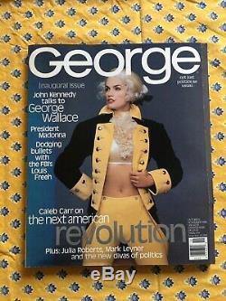 George Magazine (jfk Jr.) Cindy Crawford Premier Numéro Inaugural Octobre / Novembre 1995