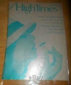 High Times 1974 Première Edition Dollar Edition Collector Couverture 1st Press