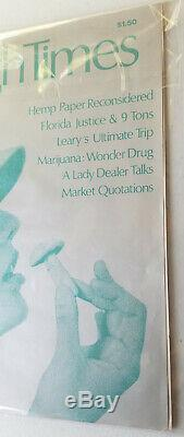 High Times Magazine 1974 Premier Edition Edition Collector Numéro 1