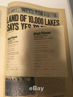 High Times Magazine 1974 Premier Edition Edition Collector Numéro 1 + Autres Mags