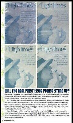 High Times Magazine 1974 Premier Numéro 1 Le One Dollar Première Question Imprimer