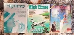 High Times Magazine Premier Set First 3 Numéros