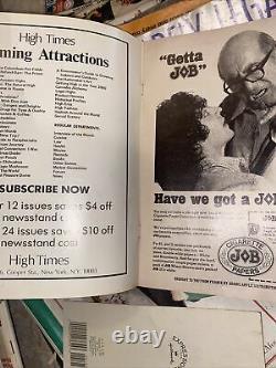 High Times Volume # 1 Numéro 1 Première Édition De L'été 1974 Couverture Argent