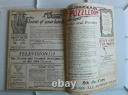 Histoires Étonnantes Août 1927 Pulp Vg Fine 4.5 1ère Guerre Des Mondes Rares
