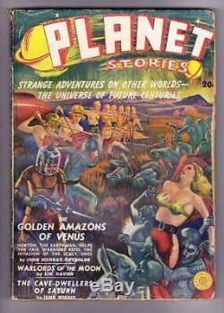 Histoires Planet # 1 Hiver 1939 Pâte De Science-fiction The Golden Amazons De Vénus Vg