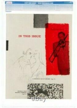 Hugh Hefner Signé 1953 Joyboy #1 Page 3 Copie Hmh Cgc 3.5 Vg- Marilyn Monroe
