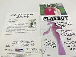 Hugh Hefner Signé Décembre Marilyn Monroe Playboy Doué Pour 2011 Poy (psa)
