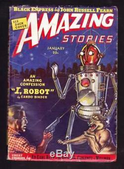 I, Robot Par Éando Binder Dans Amazing Stories Janvier 1939 Extérieur Épisode Limites