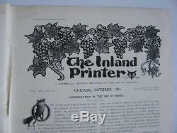 J. Rare Complete Octobre 1897 Printer Inland Magazine C. Bradley Will Leyendecker