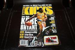 Kicks Magazine 2001 Slam Kobe Bryant Presents Air Jordan 1 Pas D'étiquette Grand Cond