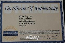 Kobe Bryant Signé Espn Magazine Premier Edition Steiner