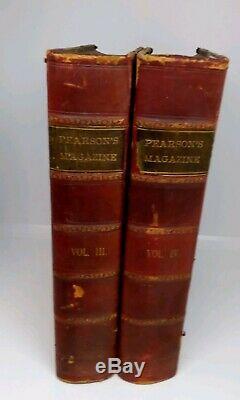 La Guerre Des Mondes 1er Rare Édition Pearson Magazine 2 Volumes 1897