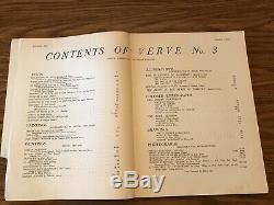 Le Magazine Verve, Vol. 1, N ° 3 (octobre-décembre) 1938, Dont 4 Lithographies