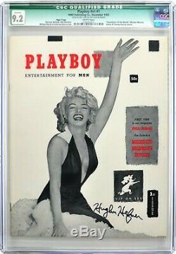 Les 2 Plus Hautes Au Monde Hugh Hefner De La Cgc N ° 1 Des Playboys Autographiées Avecwhite Pages