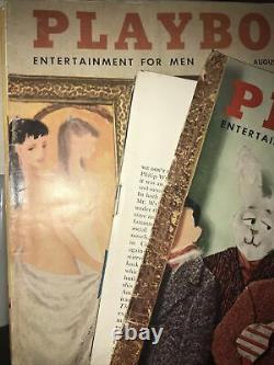 Les Vieux Magazines Playboy! Première Édition 1956 Et 1957. 13 Magazines