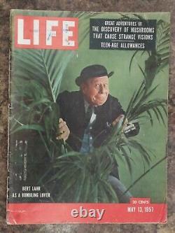 Life Magazine 13 Mai 1957 Bert Lahr, Magic Mushroom Hallucinogène Article