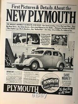 Life Magazine 23 Novembre 1936 Premiers Édition Very Fine Full Size Originale
