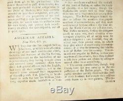 Londres 1774 Magazine Décembre Continental Congrès De Guerre Boston Pa Revolutionnaire