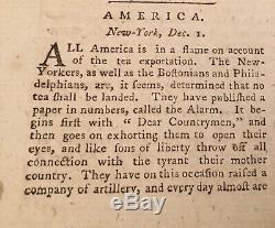 Londres 1774 Magazine Guerre Révolutionnaire Boston Thé New York Liberté De La Presse