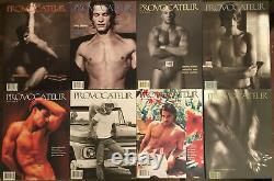 Lot De Huit Magazines Gay Provocateur Rare Complete Set
