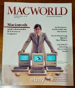 Macworld Magazine Premier Edition 1984 Véritable Première Impression Steve Jobs D'apple