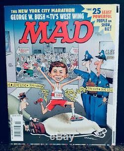 Mad Magazine # 411 Caldwell Originale Couverture Tiré En Raison De La Tragédie 9/11 Rare