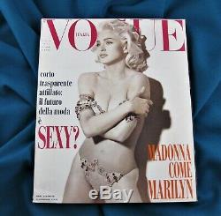 Madonna Italia Vogue Magazine Février 1991 Super Complete Rare Non Promo